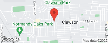 Map of 580 W 14 Mile Rd in Clawson
