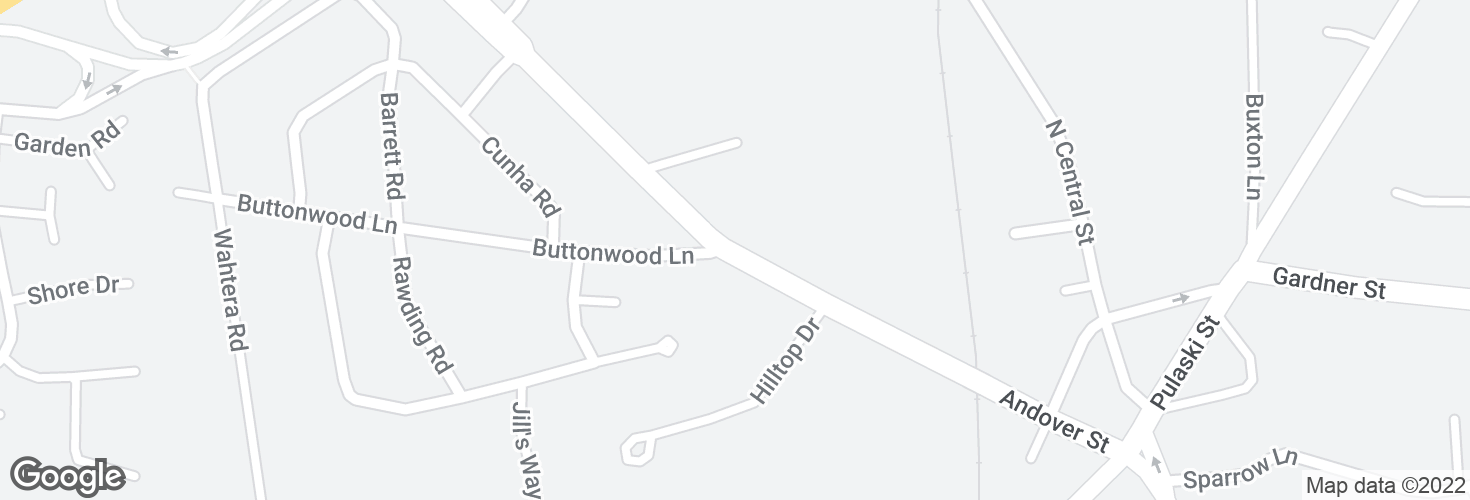 Map of Andover St opp Buttonwood Ln and surrounding area
