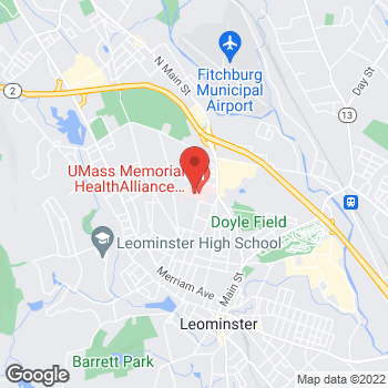 Map of Benjamin Grajales, MD at 50 Memorial Drive, Leominster, MA 01453