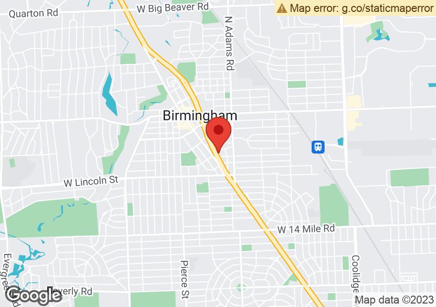 Google Map of 34300 WOODWARD AVE