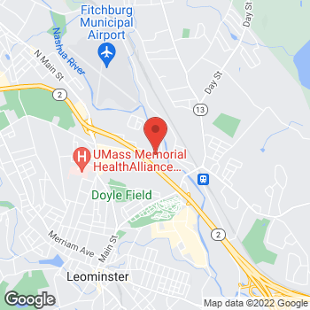 Map of Wayne Marchand, DPM at 166 Hamilton Street, Leomisnter, MA 01453