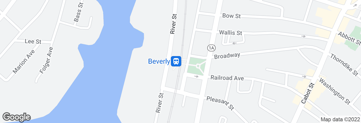 Map of Beverly and surrounding area