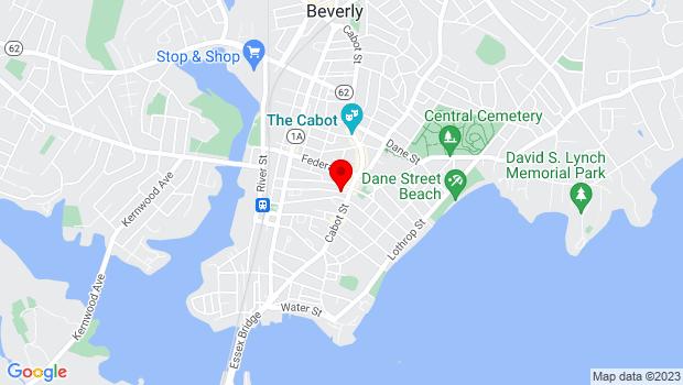 Google Map of 9 Wallis Street, Beverly, MA 01915