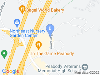 Map of Lucky Dogs Daycare Dog Boarding options in Peabody | Boarding