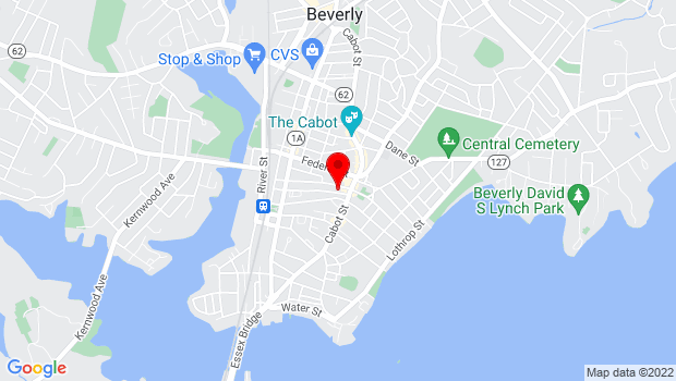 Google Map of 13 Wallis Street, Beverly, MA 01915