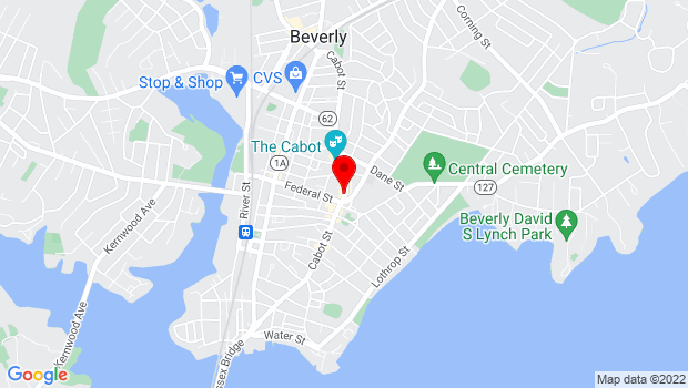Google Map of 248 Cabot Street, Beverly, MA 01915
