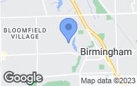 Map of Birmingham, MI