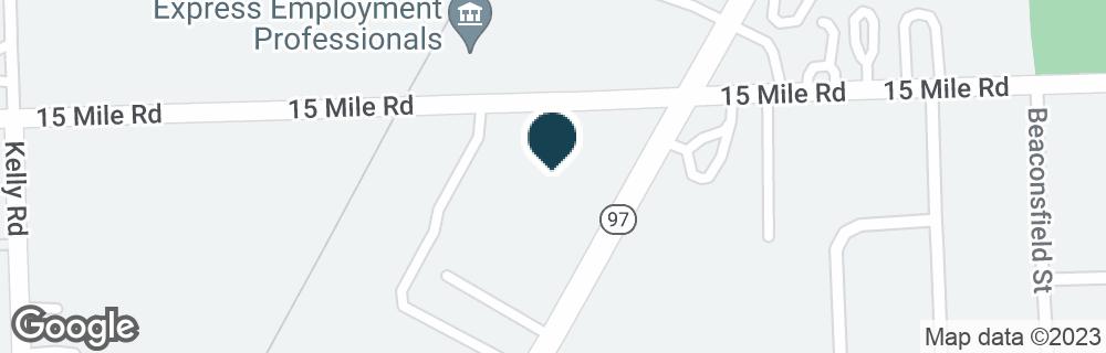 Google Map of34899 GROESBECK HWY