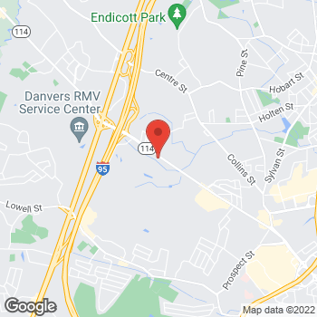 Map of Guitar Center at 120 Andover Street, Danvers, MA 01923
