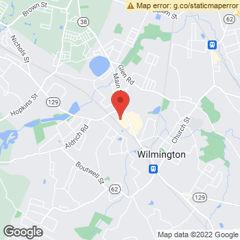 Map of Wilmington Eye Group at 229 Main Street, Wilmington, MA 01887