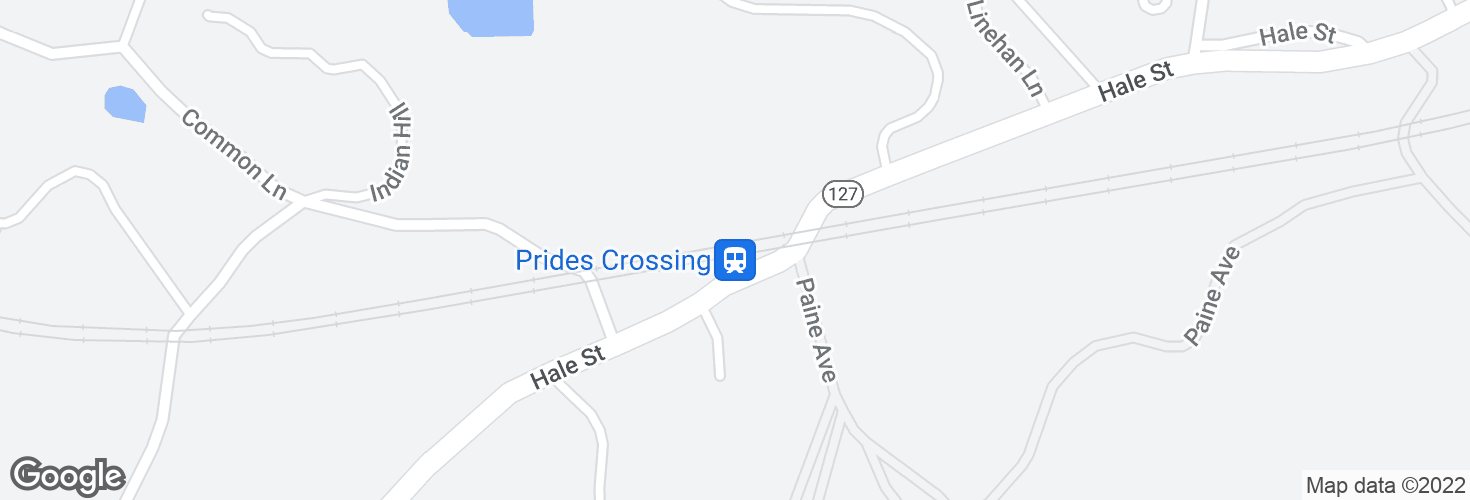 Map of Prides Crossing and surrounding area