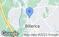 Map of Billerica, MA