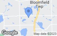 Map of Bloomfield Hills, MI