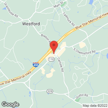 Map of Panera Bread at 2 Cornerstone Square, Westford, MA 01886