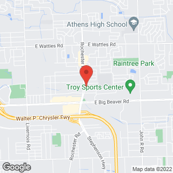 Map of Taco Bell at 3268 Rochester Road, Troy, MI 48083