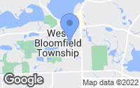 Map of West Bloomfield Township, MI