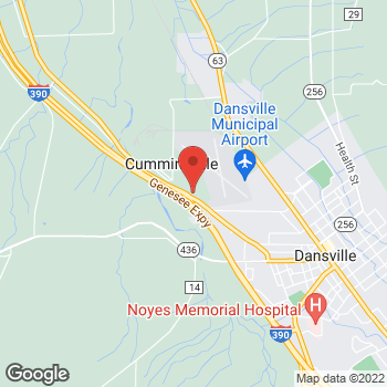 Map of Arby's at 9505 Foster Wheeler Rd, Dansville, NY 14437-9259