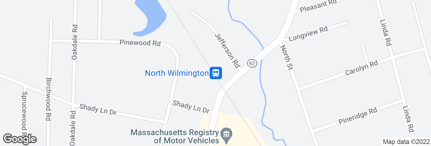 Map of North Wilmington and surrounding area
