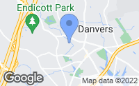 Map of Danvers, MA