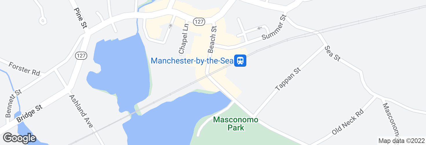 Map of Manchester and surrounding area
