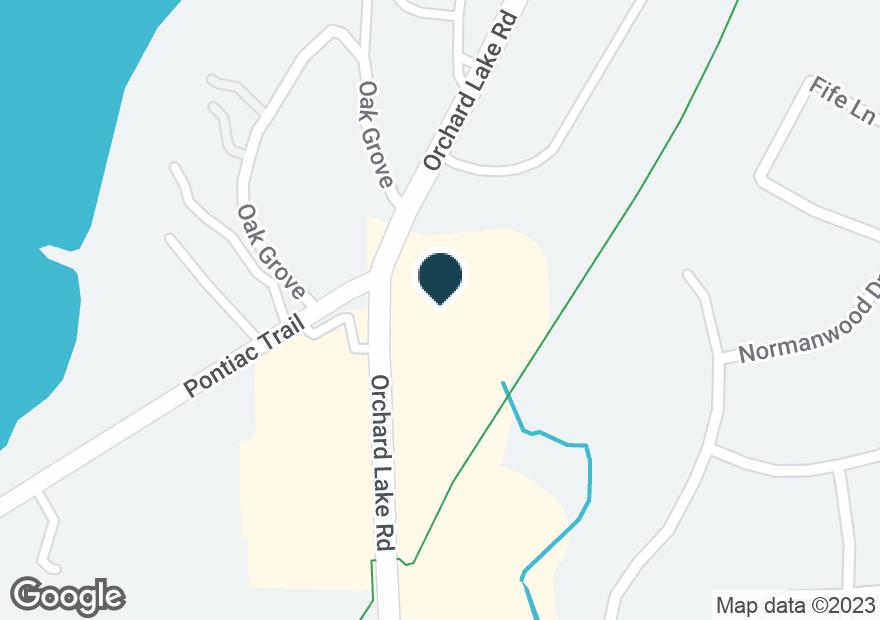 Google Map of4105 ORCHARD LAKE RD