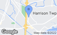 Map of Harrison charter Township, MI