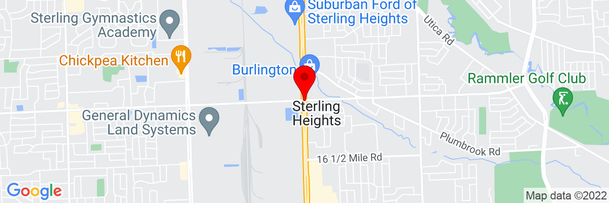 Google Map of 42.580312222222,-83.030203333333