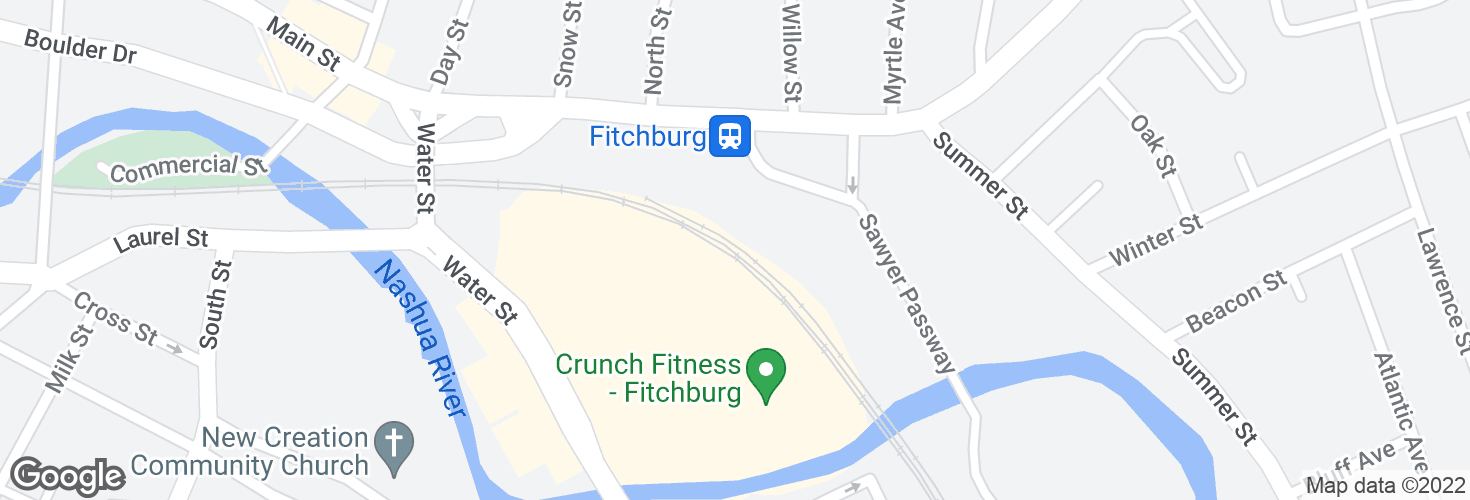 Map of Fitchburg and surrounding area
