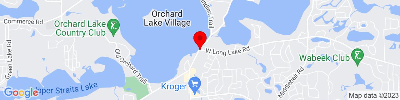 Google Map of 42.58305555555556, -83.35944444444443