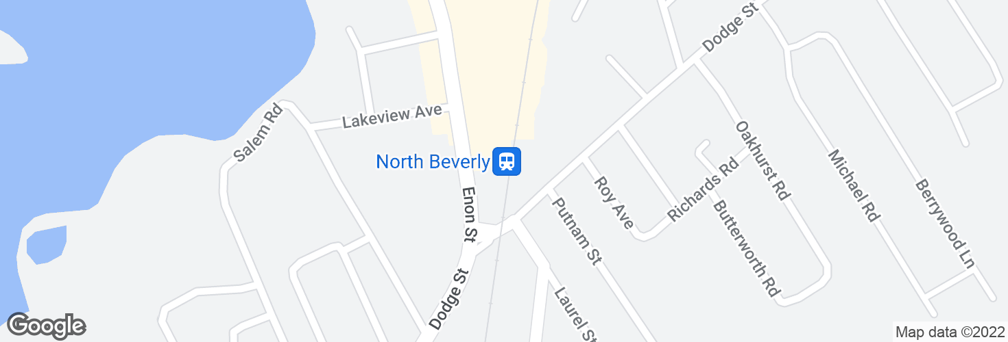 Map of North Beverly and surrounding area