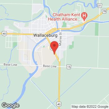 Map of Tim Hortons at 60 Mcnaughton Ave, Wallaceburg, ON N8A 1R9