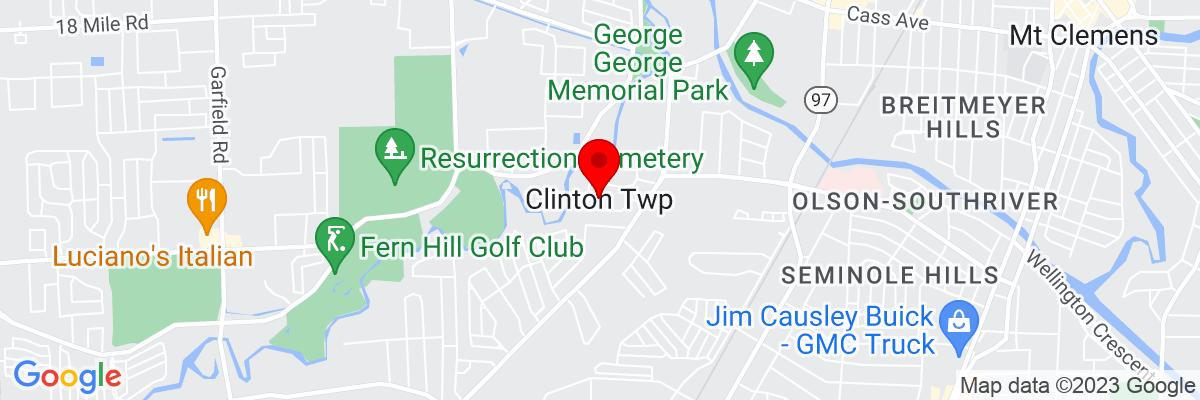 Google Map of 42.586888333333,-82.919551388889