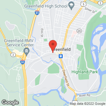 Map of Rite Aid at 107 Main Street, Greenfield, MA 01301
