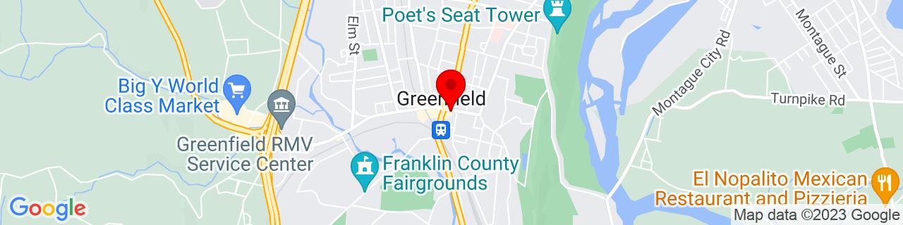 Google Map of 42.587500000000006, -72.59944444444444