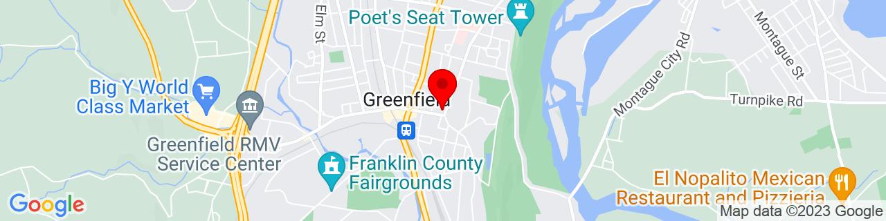 Google Map of 42.587705, -72.59616