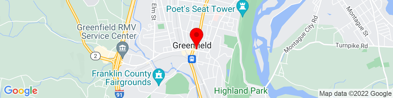 Google Map of 42.587915, -72.5994104