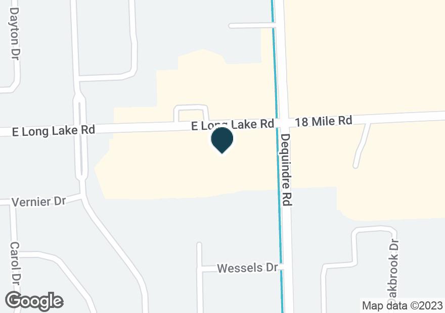 Google Map of2932 E LONG LAKE RD