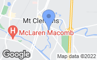 Map of Mount Clemens, MI