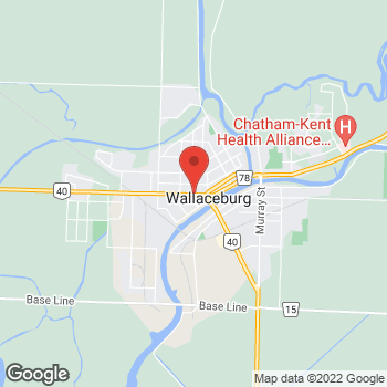 Map of Tim Hortons at 848 Dufferin Ave, Wallaceburg, ON N8A 2V4