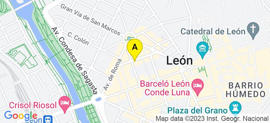situacion en el mapa de . Direccion: C/ San Agustín, 9 - 6º A, 24001 León. León