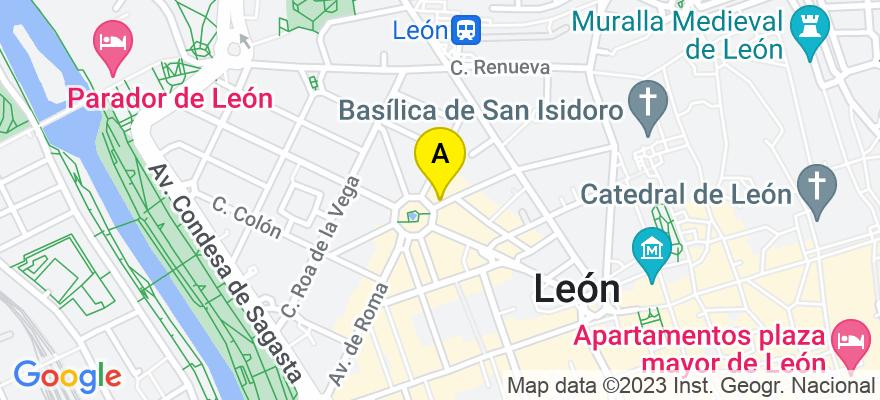 situacion en el mapa de . Direccion: Julio del Campo 18 8°, 24002 León. León