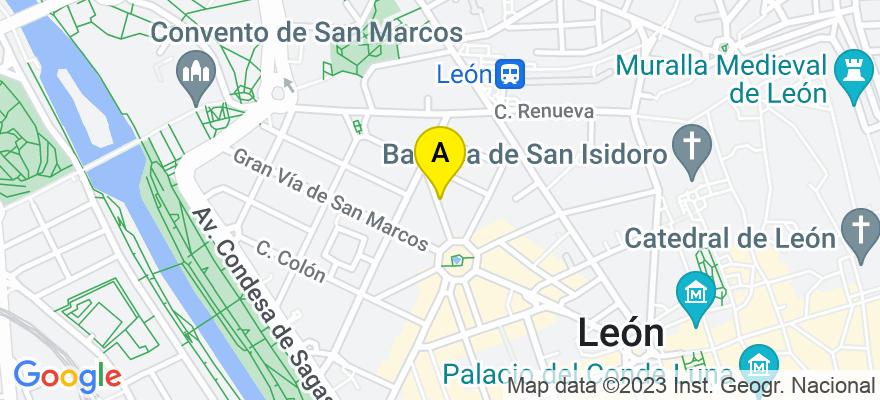 situacion en el mapa de . Direccion: calle santa clara, 6, 1b, 24002 León. León