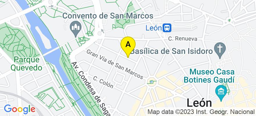 situacion en el mapa de . Direccion: Cl. Rodríguez del Valle, 6 - bajo., 24002 León. León