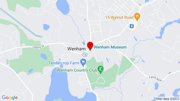 Google Map of 132 Main St., Wenham, MA 01984