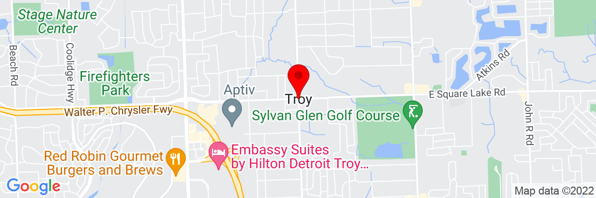 Google Map of 42.606409444444,-83.149775