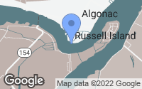 Map of Algonac, MI