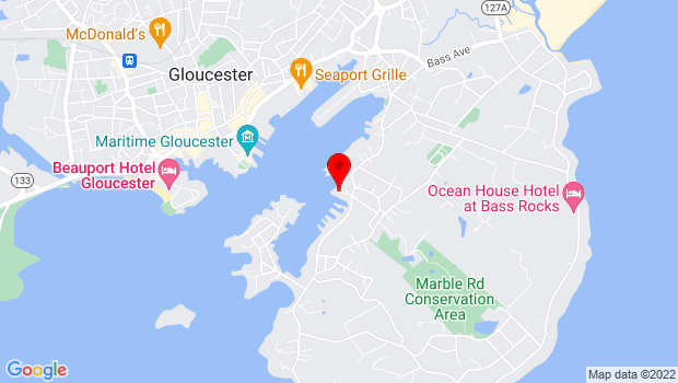 Google Map of 11 Pirates Lane, Gloucester, MA 01930