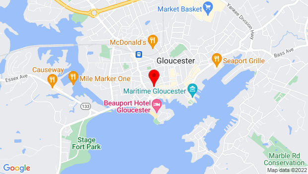 Google Map of Corner of Church and Middle Street, Gloucester, MA 01930