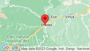 Carte de localisation du centre de contrôle technique PRADES