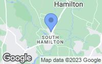 Map of Hamilton, MA
